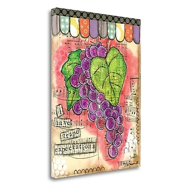 Tangletown Fine Art 'Grape Expectations' Graphic Art Print on Wrapped Canvas; 38'' H x 28'' W