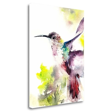 Tangletown Fine Art 'Hummingbird' Print on Wrapped Canvas; 30'' H x 23'' W