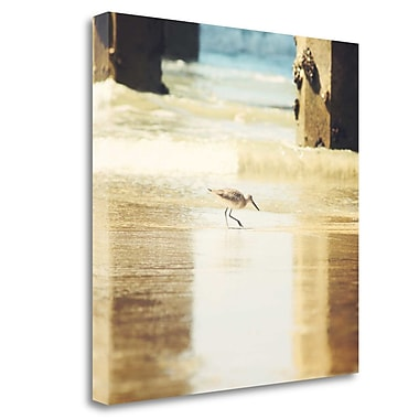 Tangletown Fine Art 'Walking on the Beach' Photographic Print on Wrapped Canvas; 30'' H x 30'' W