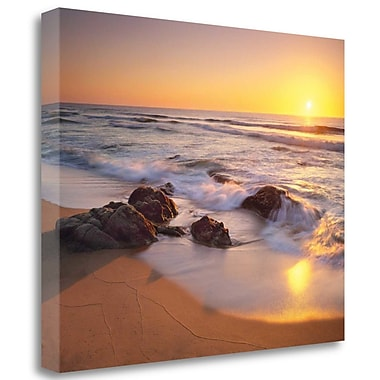 Tangletown Fine Art 'Pacific Calm' Photographic Print on Wrapped Canvas; 25'' H x 31'' W