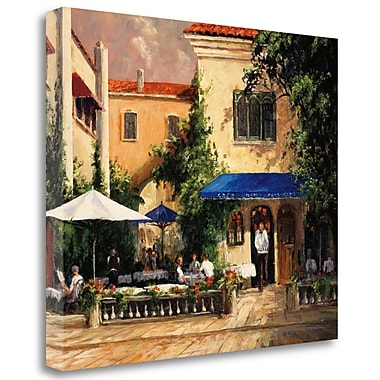 Tangletown Fine Art 'Cafe Bar' Photographic Print on Wrapped Canvas; 21'' H x 25'' W