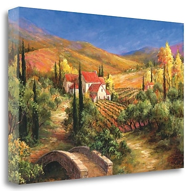 Tangletown Fine Art 'Tuscan Bridge' Graphic Art Print on Wrapped Canvas; 20'' H x 29'' W