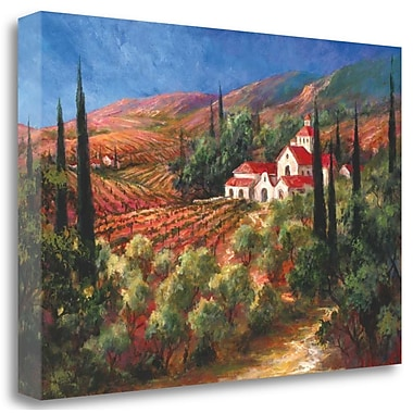 Tangletown Fine Art 'Tuscan Monastery' Graphic Art Print on Wrapped Canvas; 33'' H x 48'' W