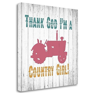 Tangletown Fine Art 'Country Girl' Graphic Art Print on Wrapped Canvas; 35'' H x 35'' W