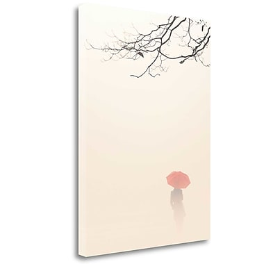 Tangletown Fine Art 'In Autumn Fog' Graphic Art Print on Wrapped Canvas; 24'' H x 18'' W