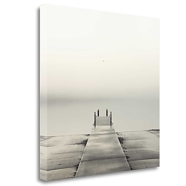 Tangletown Fine Art 'Pier and Seagull' Photographic Print on Wrapped Canvas; 35'' H x 35'' W