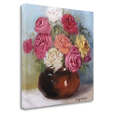 Tangletown Fine Art 'Mixed Colored Roses' Print on Wrapped Canvas; 25'' H x 25'' W