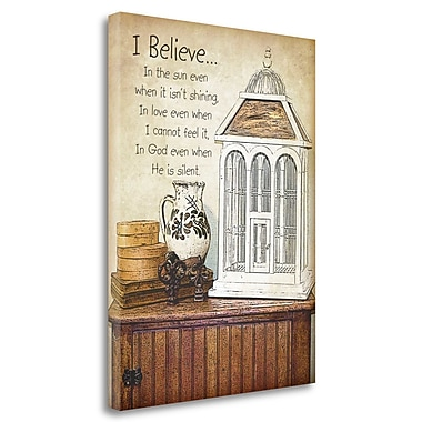Tangletown Fine Art 'I Believe' Graphic Art Print on Wrapped Canvas; 32'' H x 24'' W