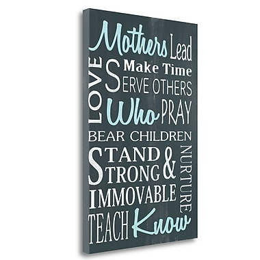 Tangletown Fine Art 'Mothers Who Know' Textual Art on Wrapped Canvas; 26'' H x 17'' W