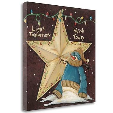 Tangletown Fine Art 'Light Tomorrow w/ Today' Print on Wrapped Canvas; 19'' H x 19'' W