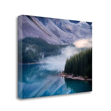 Tangletown Fine Art 'Mountain Mist' Photographic Print on Wrapped Canvas; 35'' H x 47'' W