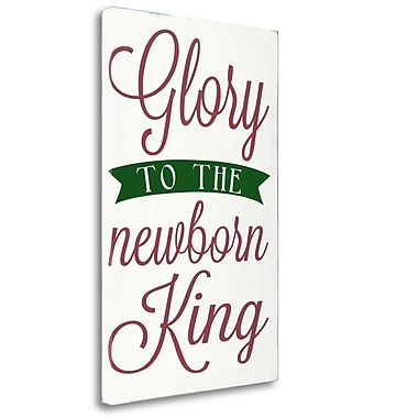 Tangletown Fine Art 'Newborn King w/ Green' Textual Art on Wrapped Canvas; 33'' H x 21'' W