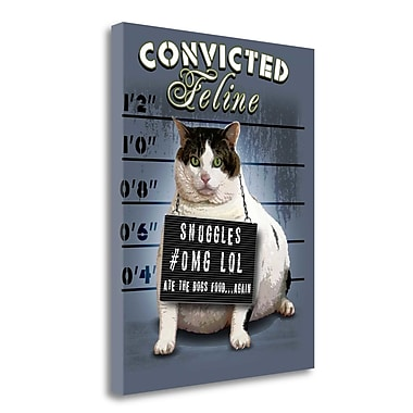 Tangletown Fine Art 'Convicted Feline' Graphic Art Print on Wrapped Canvas; 26'' H x 21'' W