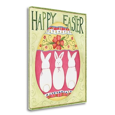 Tangletown Fine Art 'Easter Happy II' Graphic Art Print on Wrapped Canvas; 34'' H x 28'' W