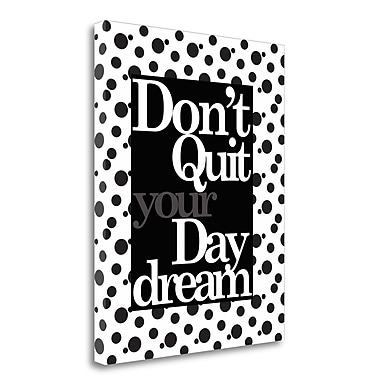 Tangletown Fine Art 'Daydream Layers' Textual Art on Wrapped Canvas; 45'' H x 35'' W