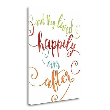 Tangletown Fine Art 'Happily Ever After' Textual Art on Wrapped Canvas; 24'' H x 18'' W