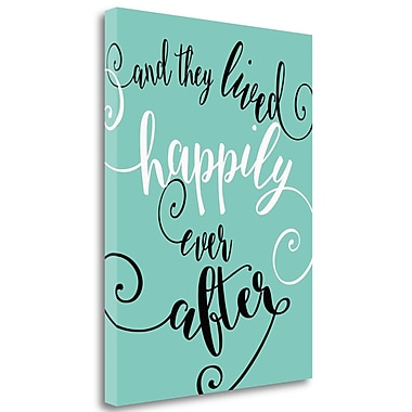 Tangletown Fine Art 'Happily Ever After' Textual Art on Wrapped Canvas; 47'' H x 35'' W