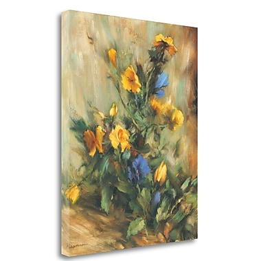 Tangletown Fine Art 'Floral' Print on Wrapped Canvas; 27'' H x 21'' W