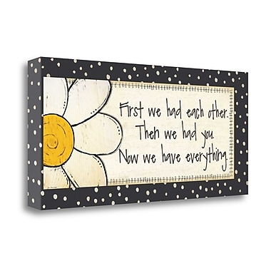 Tangletown Fine Art 'Everything' Textual Art on Wrapped Canvas; 16'' H x 36'' W