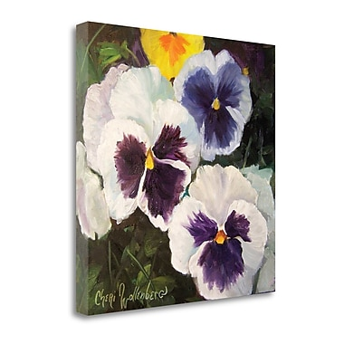 Tangletown Fine Art 'Pansies' Print on Wrapped Canvas; 35'' H x 35'' W