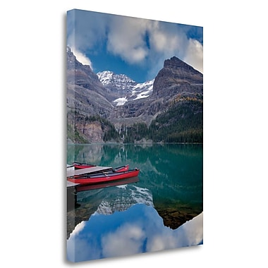 Tangletown Fine Art 'Red Canoes' Photographic Print on Wrapped Canvas; 29'' H x 23'' W