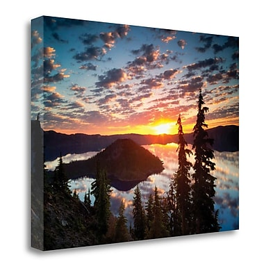 Tangletown Fine Art 'Sunset Glory I' Photographic Print on Wrapped Canvas; 18'' H x 24'' W
