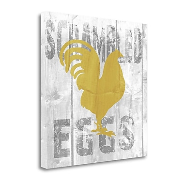 Tangletown Fine Art 'Scrambled Eggs' Textual Art on Wrapped Canvas; 35'' H x 35'' W