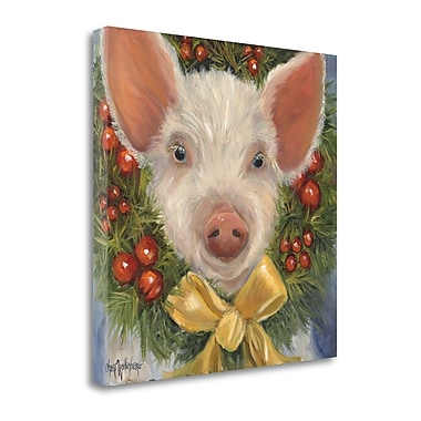 Tangletown Fine Art 'Piggy Pudding' Print on Wrapped Canvas; 25'' H x 25'' W