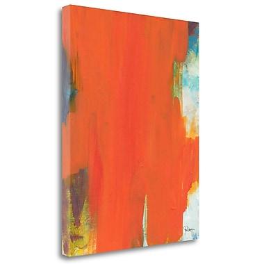 Tangletown Fine Art 'Orange Tide' Print on Wrapped Canvas; 24'' H x 19'' W
