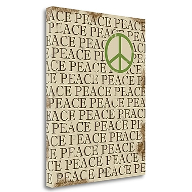 Tangletown Fine Art 'Peace' Textual Art on Wrapped Canvas; 28'' H x 22'' W
