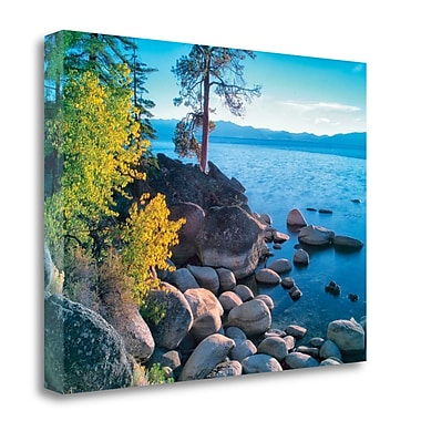 Tangletown Fine Art 'Rocky Coastline' Photographic Print on Wrapped Canvas; 25'' H x 33'' W