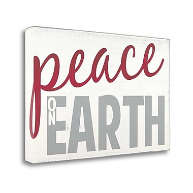 Tangletown Fine Art 'Peace on Earth' Textual Art on Wrapped Canvas; 18'' H x 29'' W