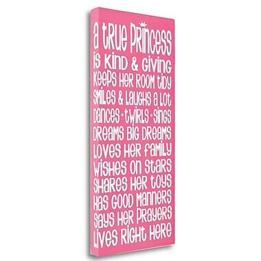 Tangletown Fine Art 'Princess' Textual Art on Wrapped Canvas; 39'' H x 19'' W