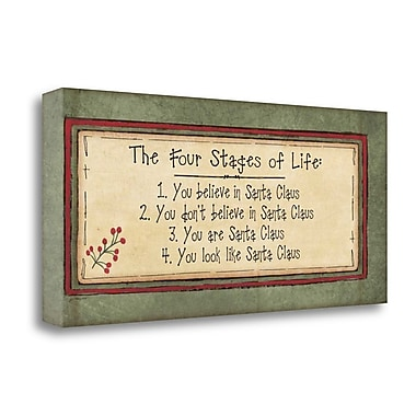 Tangletown Fine Art 'Stages of Life' Textual Art on Wrapped Canvas; 12'' H x 26'' W