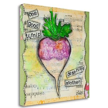 Tangletown Fine Art 'One Good Turnip' Graphic Art Print on Wrapped Canvas; 24'' H x 24'' W