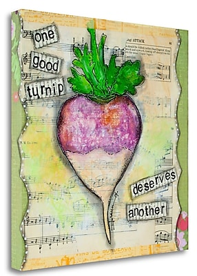Tangletown Fine Art 'One Good Turnip' Graphic Art Print on Wrapped Canvas; 27'' H x 27'' W