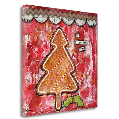Tangletown Fine Art 'Oh Gingerbread' Graphic Art Print on Wrapped Canvas; 35'' H x 35'' W