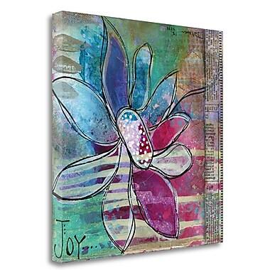 Tangletown Fine Art 'Joy Floral' Print on Wrapped Canvas; 18'' H x 18'' W