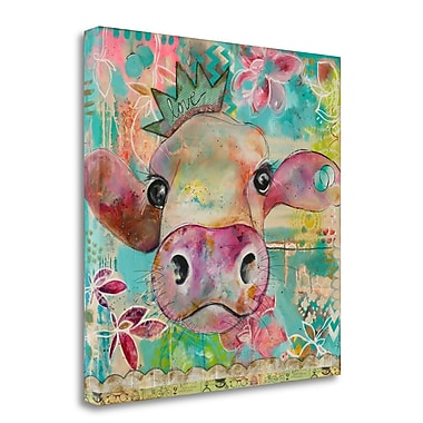 Tangletown Fine Art 'Love Cow' Print on Wrapped Canvas; 25'' H x 25'' W