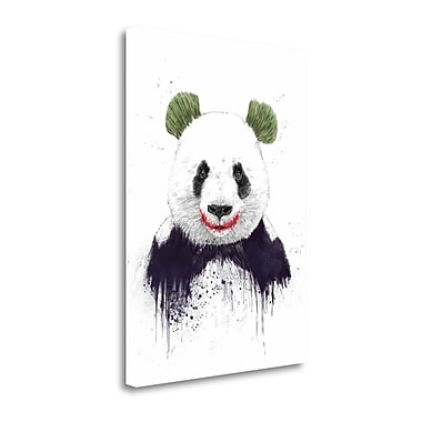 Tangletown Fine Art 'Joker Face' Graphic Art Print on Wrapped Canvas; 32'' H x 23'' W
