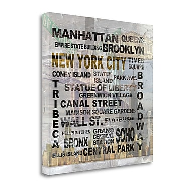 Tangletown Fine Art 'New York City' Textual Art on Wrapped Canvas; 25'' H x 25'' W