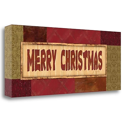 Tangletown Fine Art 'Merry Christmas' Textual Art on Wrapped Canvas; 16'' H x 40'' W