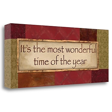 Tangletown Fine Art 'It's the Most Wonderful Time' Textual Art on Wrapped Canvas; 12'' H x 28'' W