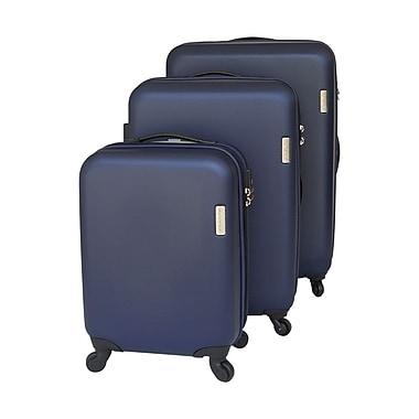 FLO – Ensemble de valises rigides sur roues KY-8538 3 pièces 20 po/24 po/28 po, bleu