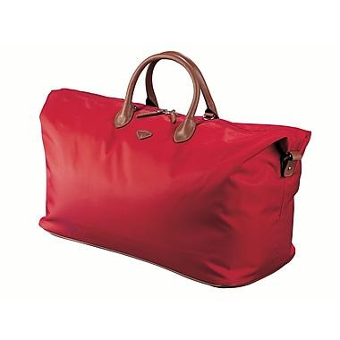 JUMP – Sac de sport Nice de 20 po en nylon sergé haute densité, doublure en polyester, rouge (6511)