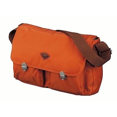 JUMP – Sac à bandoulière Nice de 14 po en nylon sergé haute densité, doublure en polyester, orange (6524)