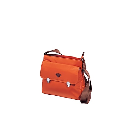 JUMP – Sac Nice pour iPad avec fermeture à glissière, rabat, sergé nylon haute densité avec doublure en polyester, orange (6574)