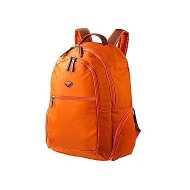 JUMP – Sac à dos Nice de 18 po en nylon sergé haute densité, doublure en polyester, orange (6580)
