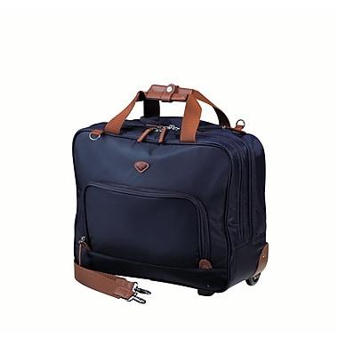 JUMP – Valise de pilote à 2 compartiments Nice en nylon sergé haute densité, doublure en polyester, bleu marine (6534)