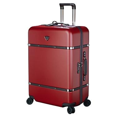 JUMP – Ensemble de 3 valises rigides à 4 roulettes, 100 % polycarbonate, rouge